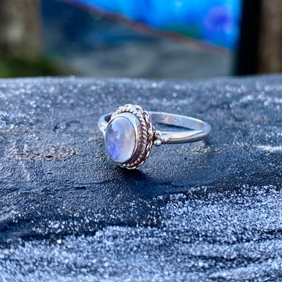 Labradorite Sterling Silver Ring Crystal Healing Energy Stone Chakras sold by Crystal Cabin.