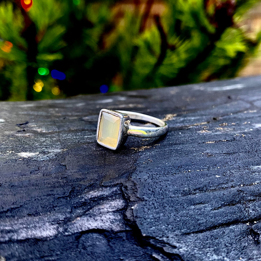 Island Agate Silver Ring