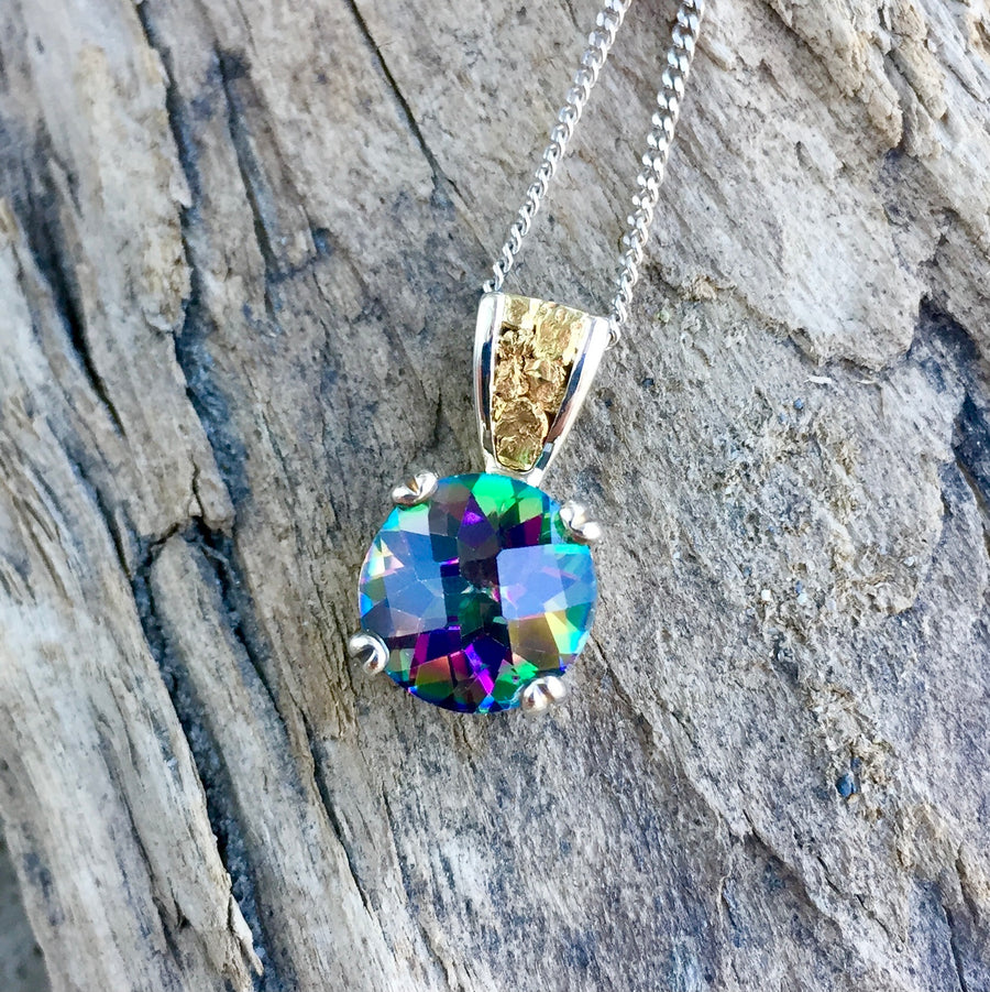 Authentic Eco-friendly Sustainable Gold Nugget Gemstone Canadian British Columbia Pendant Necklace Jewelry sold by Crystal Cabin.