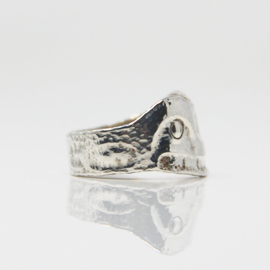 Silver Haida Orca Killer Whale Repousse Ring