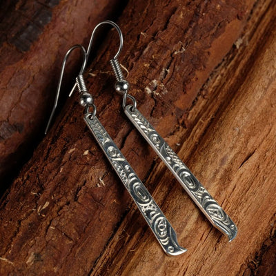 Silver Haida Eagle Earrings