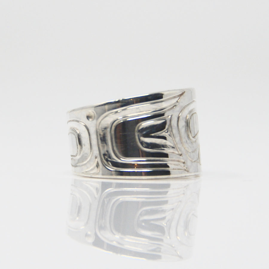 Silver Killer Whale Orca Ring sold by Crystal Cabin