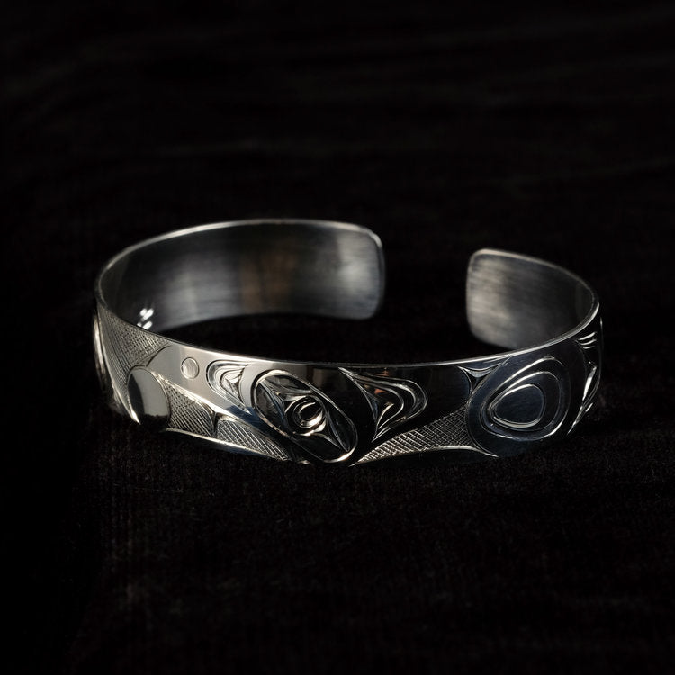 Silver Haida Raven Steals the Light Bracelet