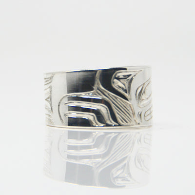Silver Wolf Ring sold by Crystal Cabin