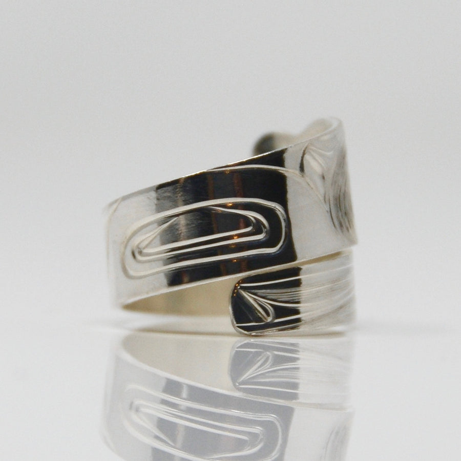 Silver Eagle Wrap Ring