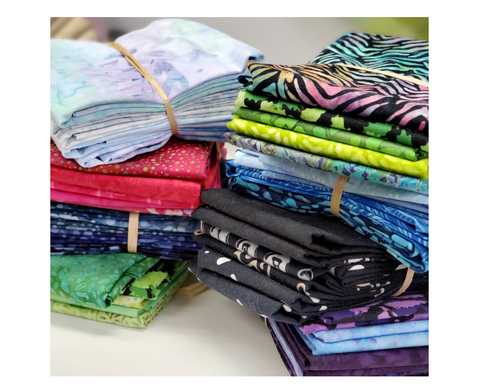 Assorted 5 Batik Fat Quarter Bundle