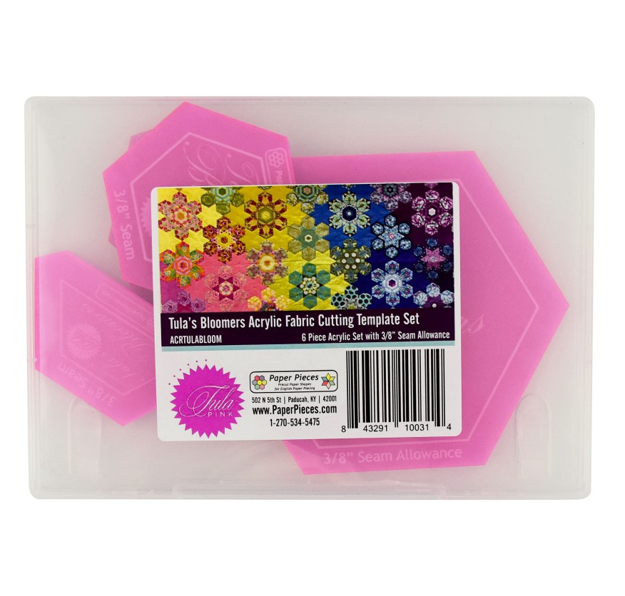 Tula's Bloomers Acrylic Fabric Cutting Template Set