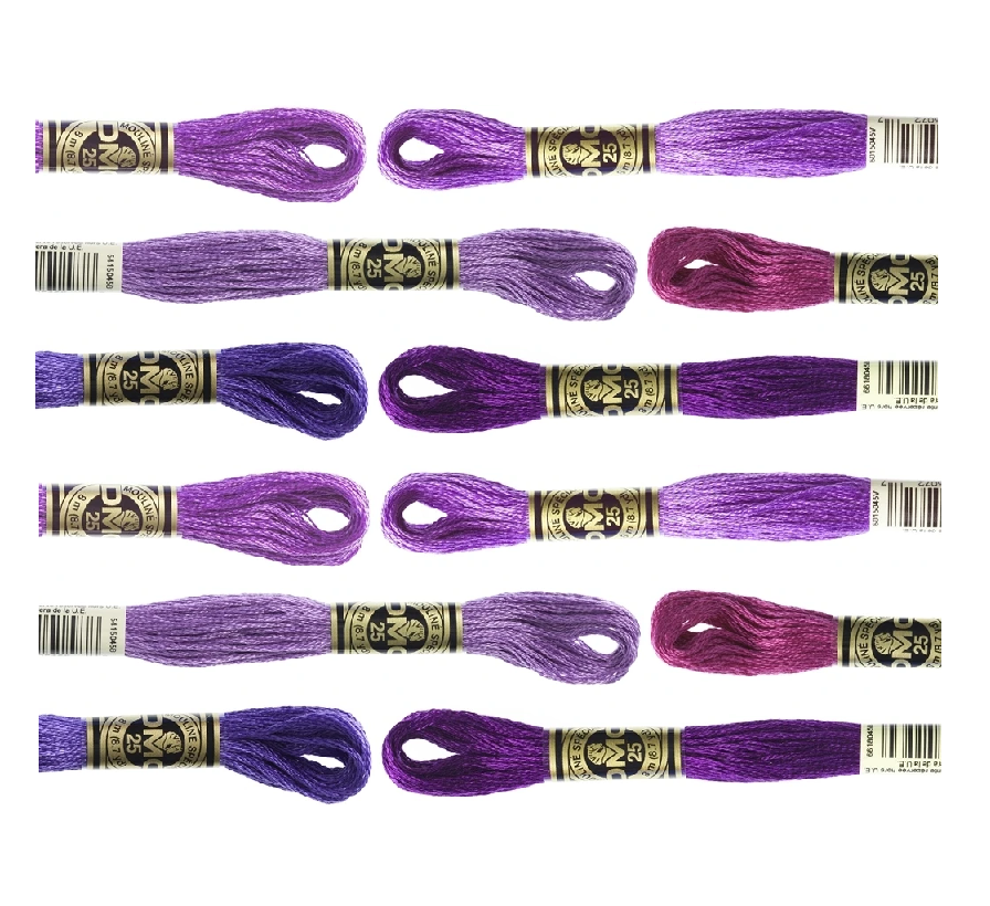 DMC Hand Embriodery Floss - PURPLES