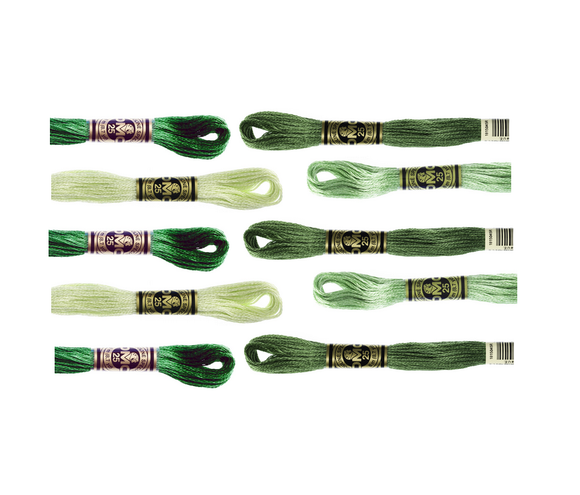 DMC Hand Embriodery Floss - GREENS