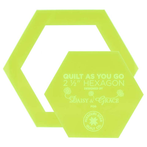 "Missouri Star - Quilt As You Go 2 1/2"" Hexagon Template Set"