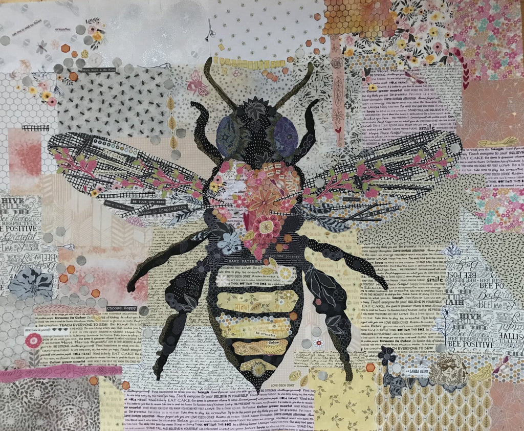 Honey Bee Collage by Laura Heine