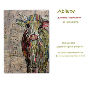 "Cow ""Abilene"" Collage by Laura Heine"