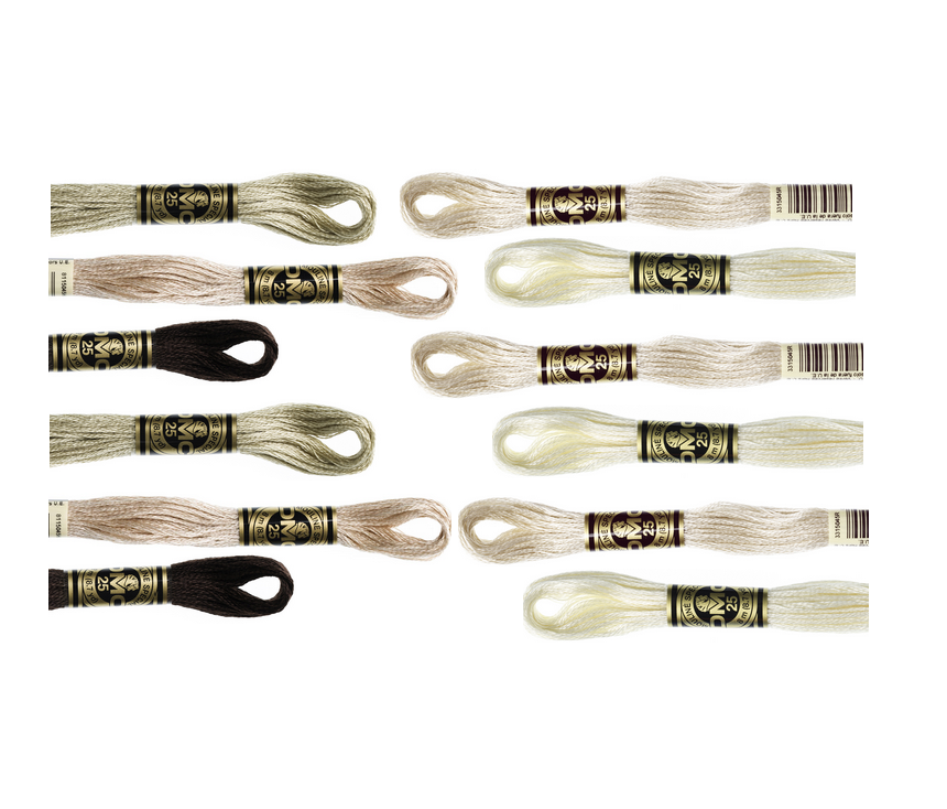 DMC Hand Embroidery Floss - NEUTRALS