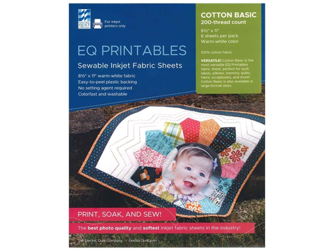 EQ Printables - Sewable Inkjet Fabric Sheets