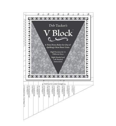 V Block Ruler by Deb Tucker
