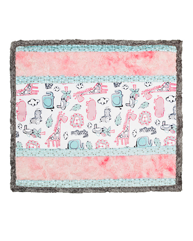 Lion Around Pink Cuddle Quilt Kit
