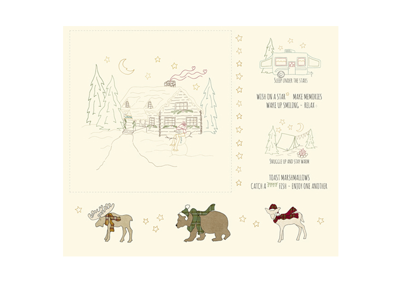Woodland Getaway Stitch Panel - MF08150146