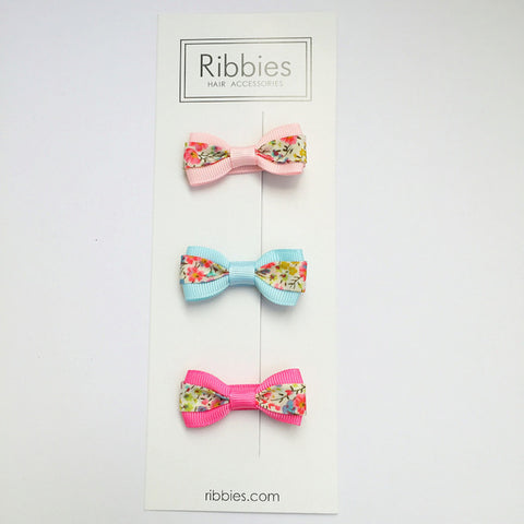 Set of 3 Liberty Bows - Phoebe