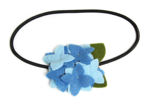 Hydrangea Flower Headband - Blue
