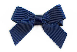 Small Bow Louise - Navy