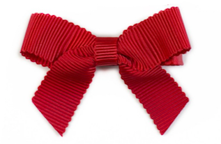 Small Bow Louise - Red