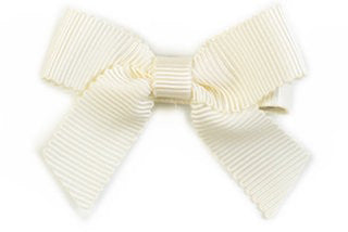 Small Bow Louise - Ivory