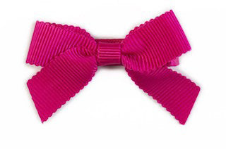 Small Bow Louise - Hot Pink