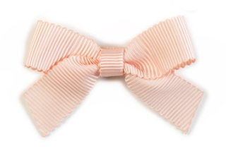 Small Bow Louise - Peach