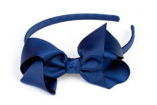 Bow Headband Ink Blue