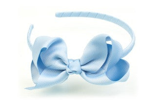 Bow Headband French Blue