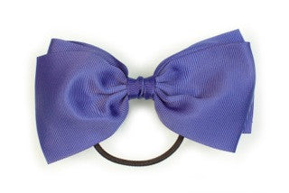 Large Bow Ponytail Holder - Ink Blue