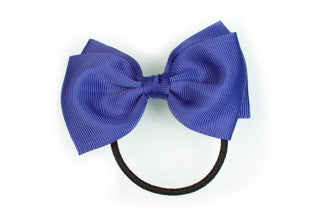 Medium Bow Ponytail Holder - Ink Blue
