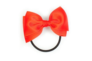 Medium Bow Ponytail Holder - Red