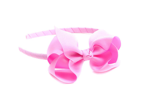 Bow Headband Light Pink