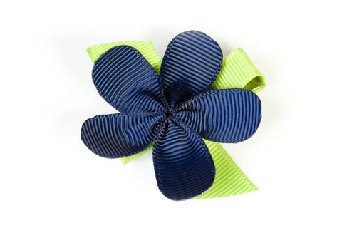 Allie Navy Flower Hair Clip