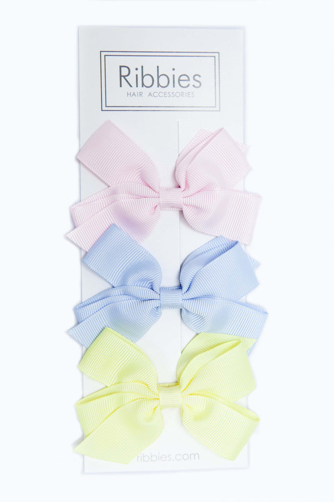 Set of 3 Medium Bows - Pastel