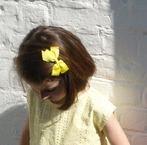 Medium Pastel Yellow Bow