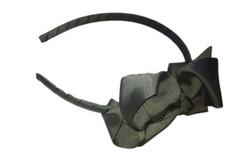 Bow Headband Grey