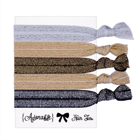 Set of 5 Hair Ties - Shimmer