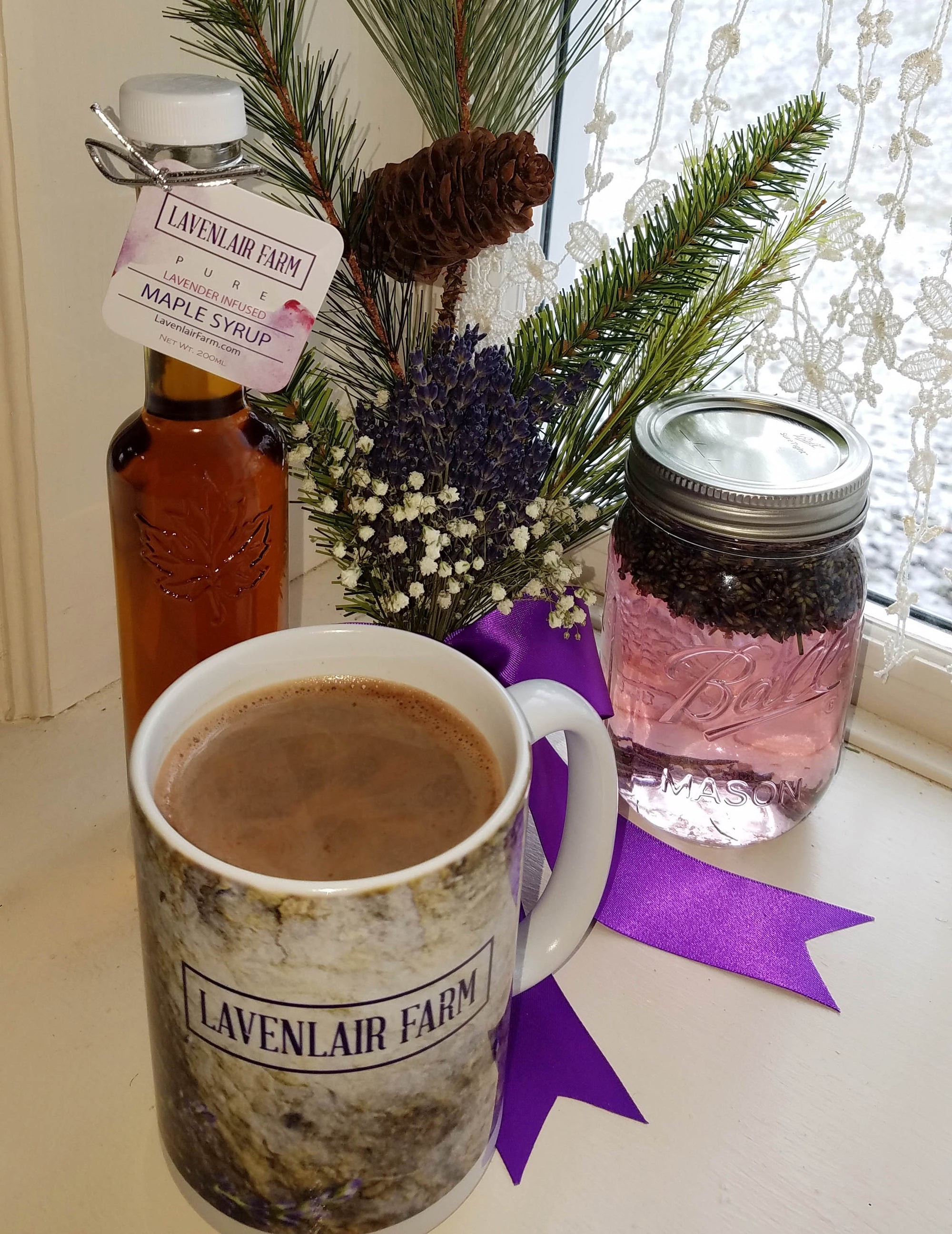 Naughty or Nice Lavender Maple Hot Cocoa