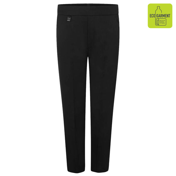 Zeco Half Elastic Pull-Up Trouser - Black