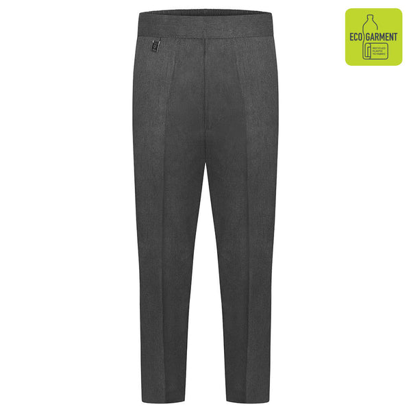 Zeco Half Elastic Pull-Up Trouser - Grey