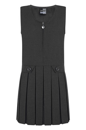 Zeco Zip Front Pinafore - Grey