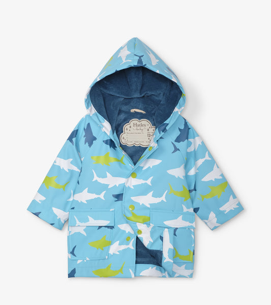 Hatley Great White Sharks Baby Raincoat