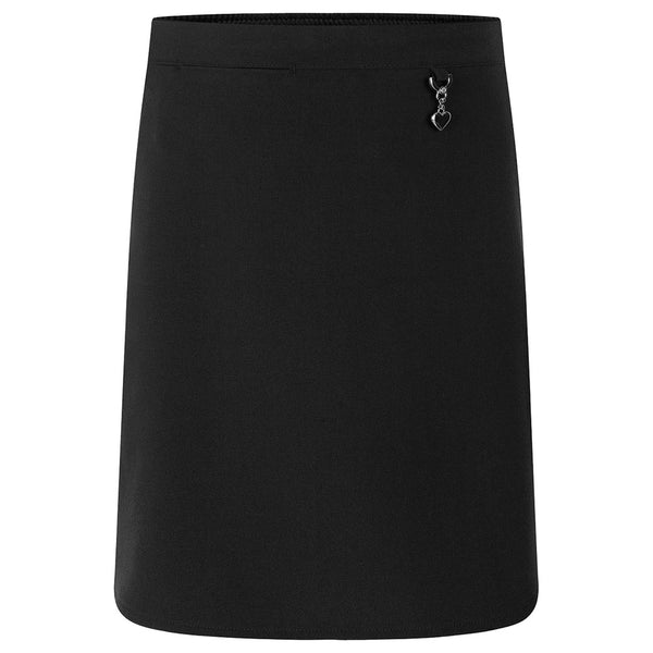 Zeco Skirt Stretch Heart - Black