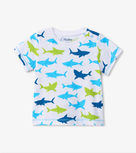 Hatley Great White Sharks Baby Graphic Tee