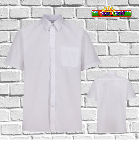 Trutex Shirt Short Sleeve EasyCare -Twin Pack White (TDE-WHT) DISCONTINUED