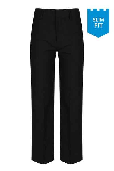 Trutex Trousers Boys Slim Fit - Junior Black (SFJ-BLK)