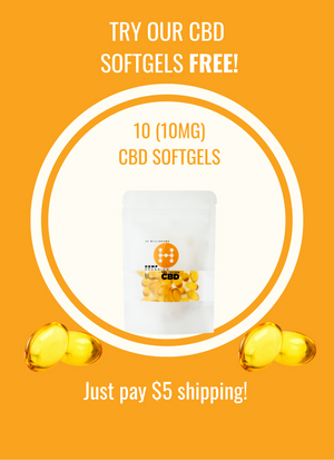 10 Free 10mg CBD softgels. Just pay Shipping!