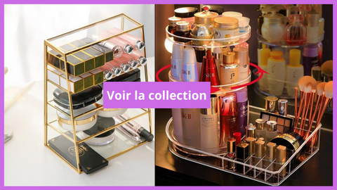 Collection organisateur maquillage